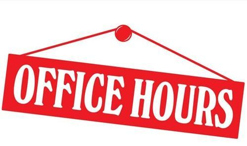 Office Hours Sign Logo