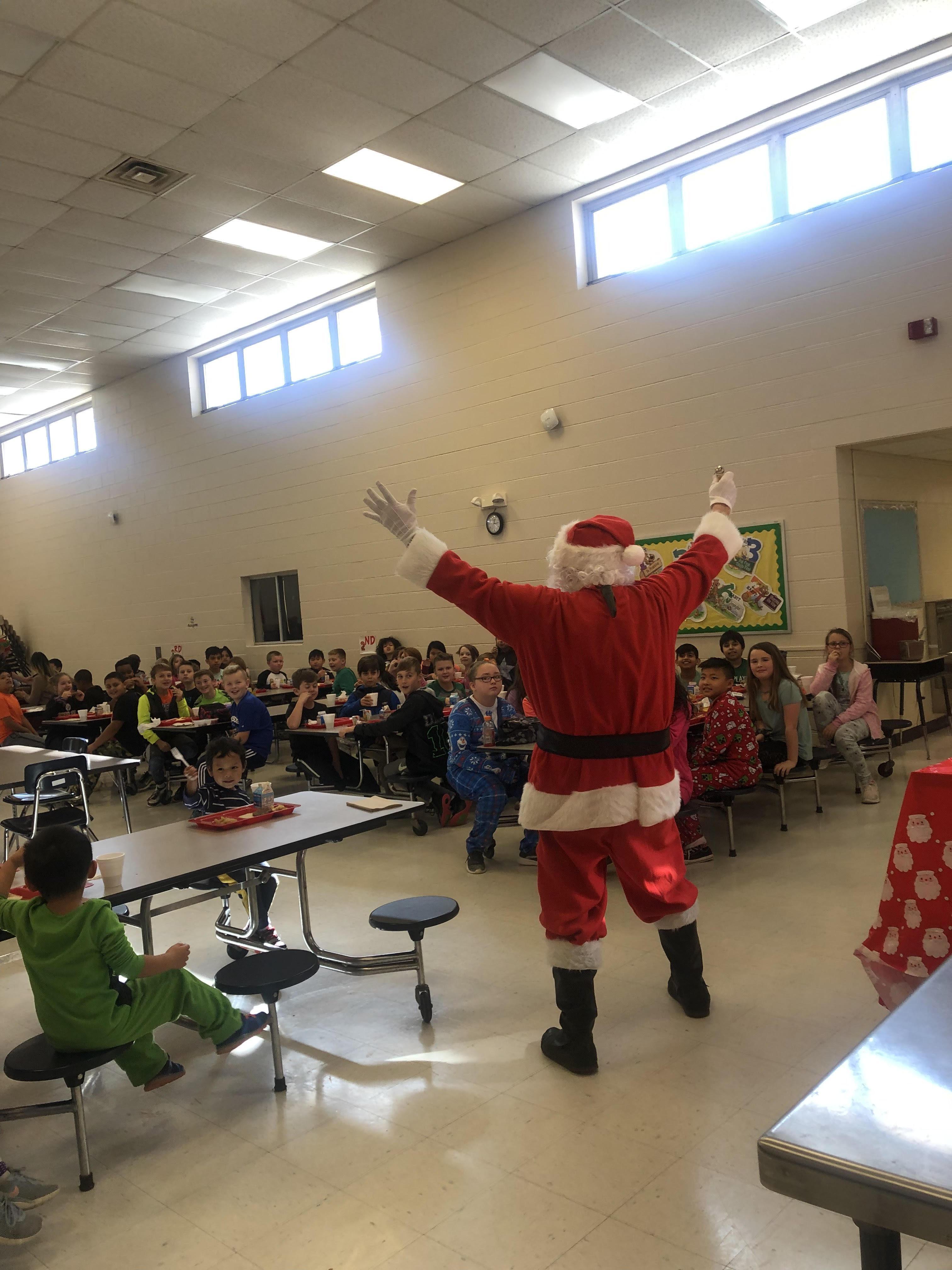Santa says Ho, Ho, Ho!