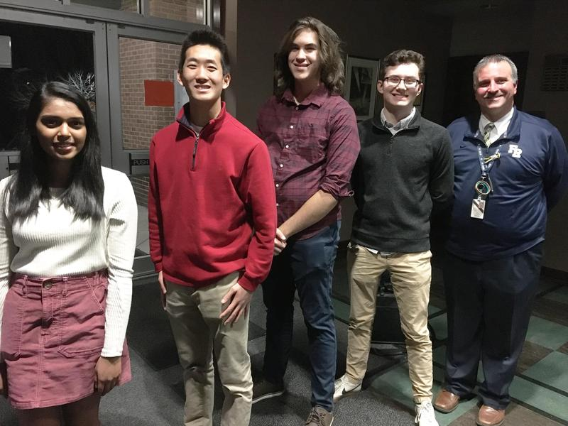 Franklin Regional Senior High School (FRSH) is pleased to announce it has four 2020 National Merit Scholarship Competition Semi-Finalists. The students receiving this honor are Manali Badwe, River Sell, Marshal Mao, and Daniel Kline.
