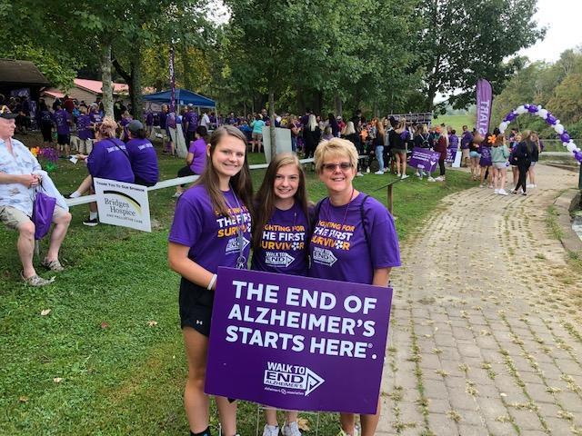 Learners at Alzheimer's Walk