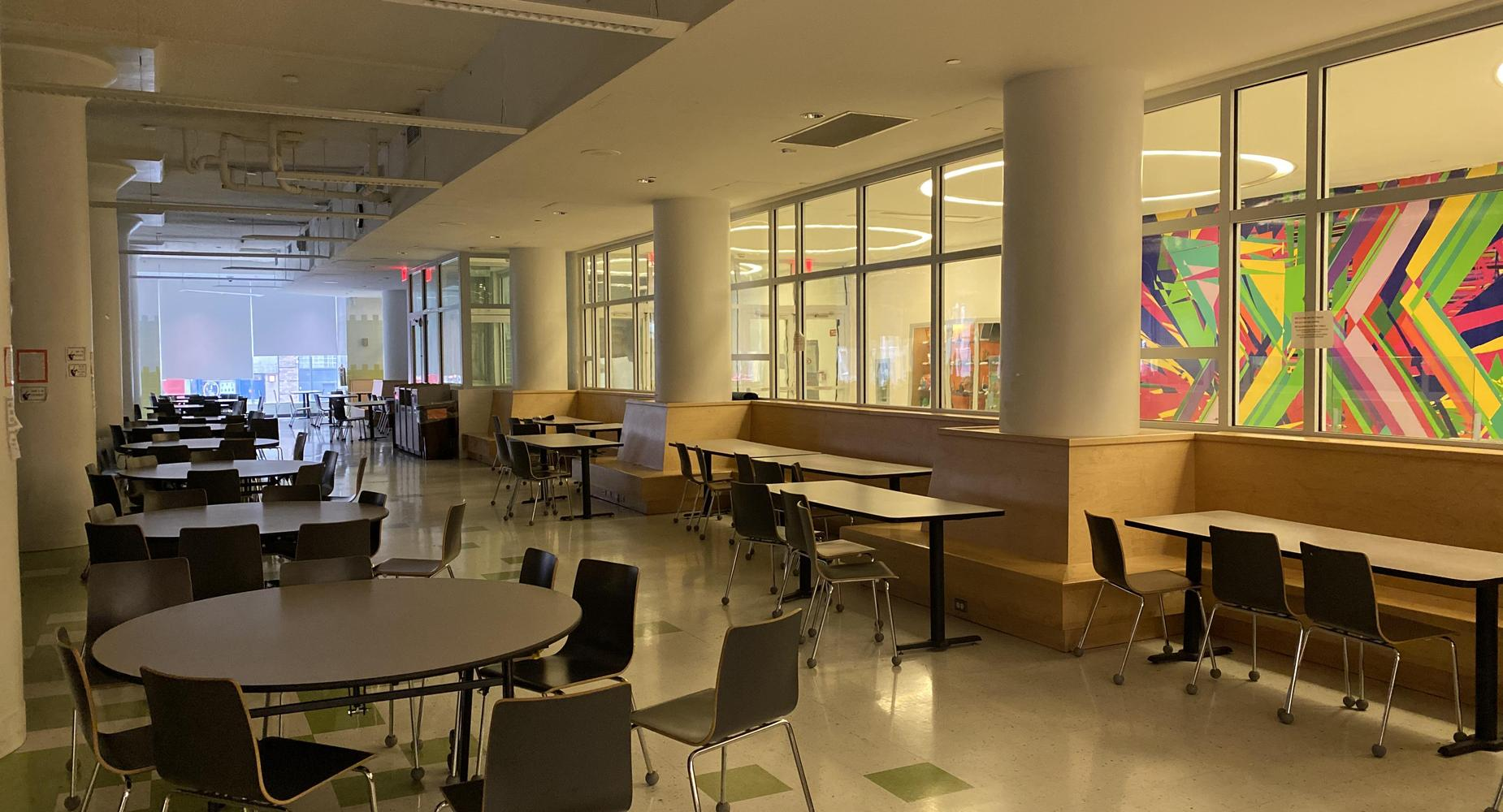 Beacon Cafeteria with the lights turned off