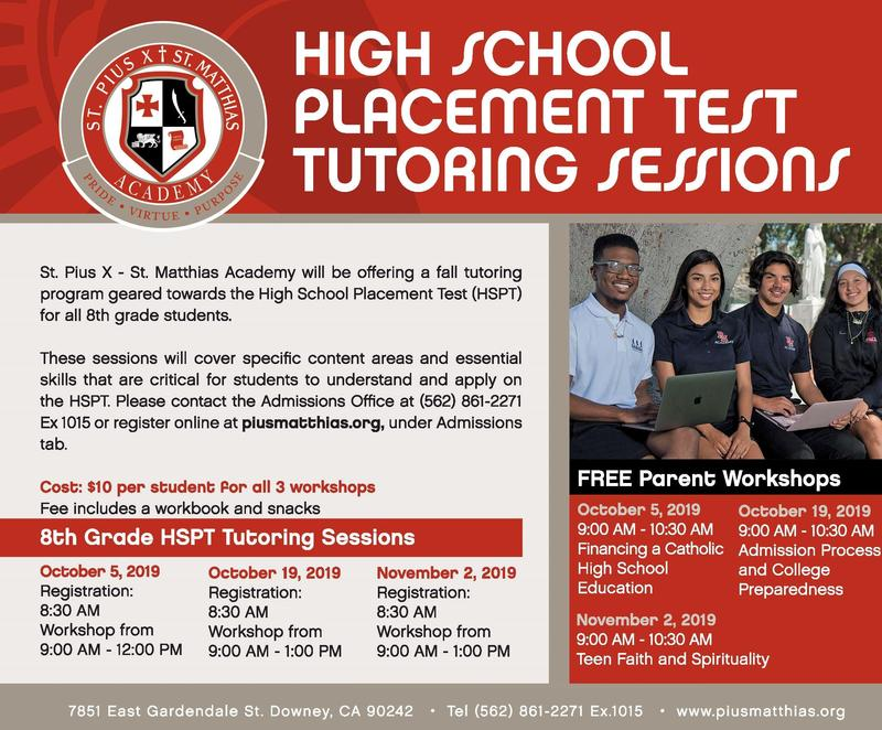 HSPT Tutoring Program & Parent Workshops Thumbnail Image