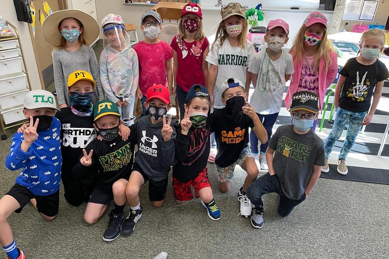 classroom holds hat day