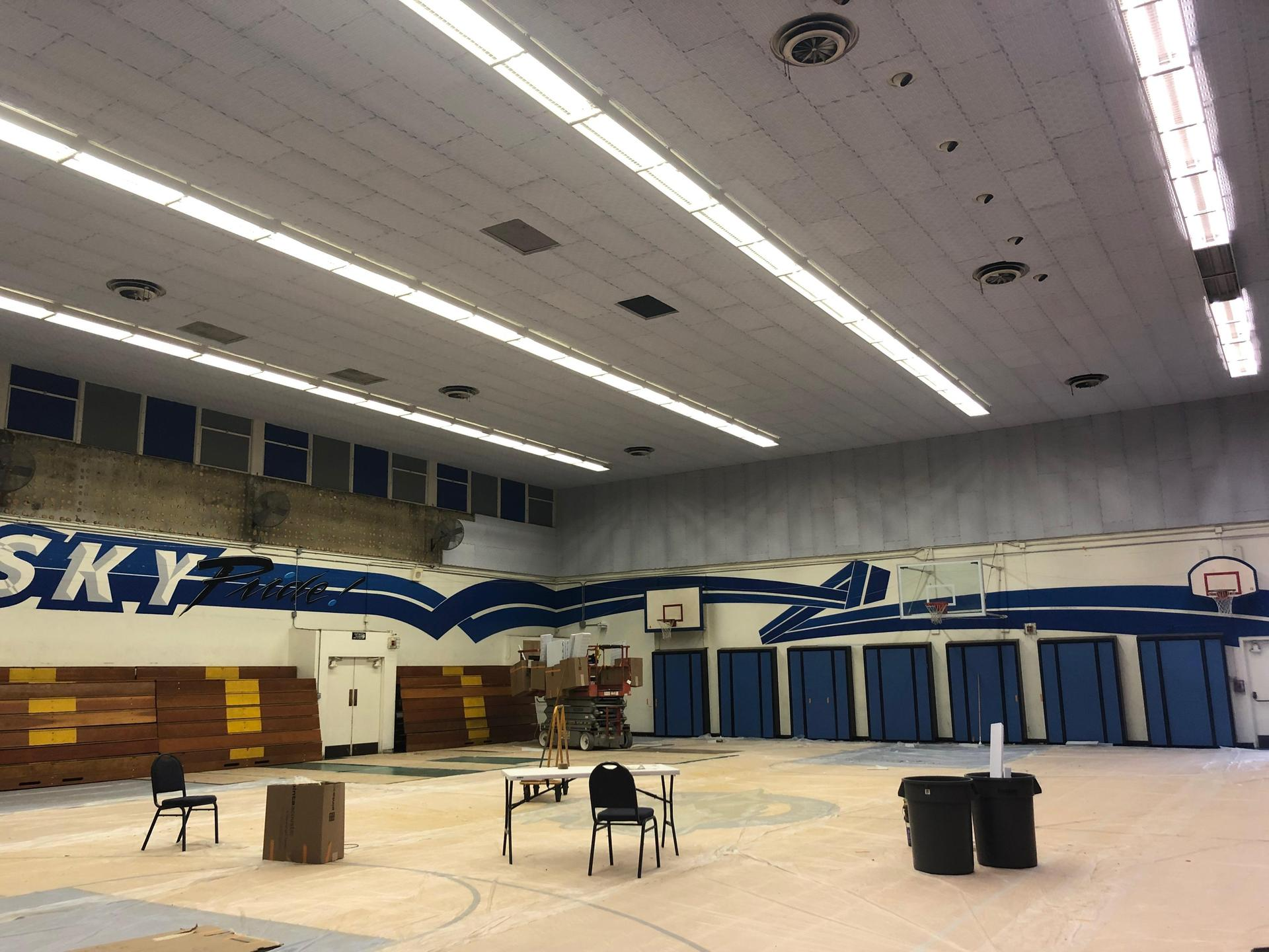 Installing gym ceiling tile