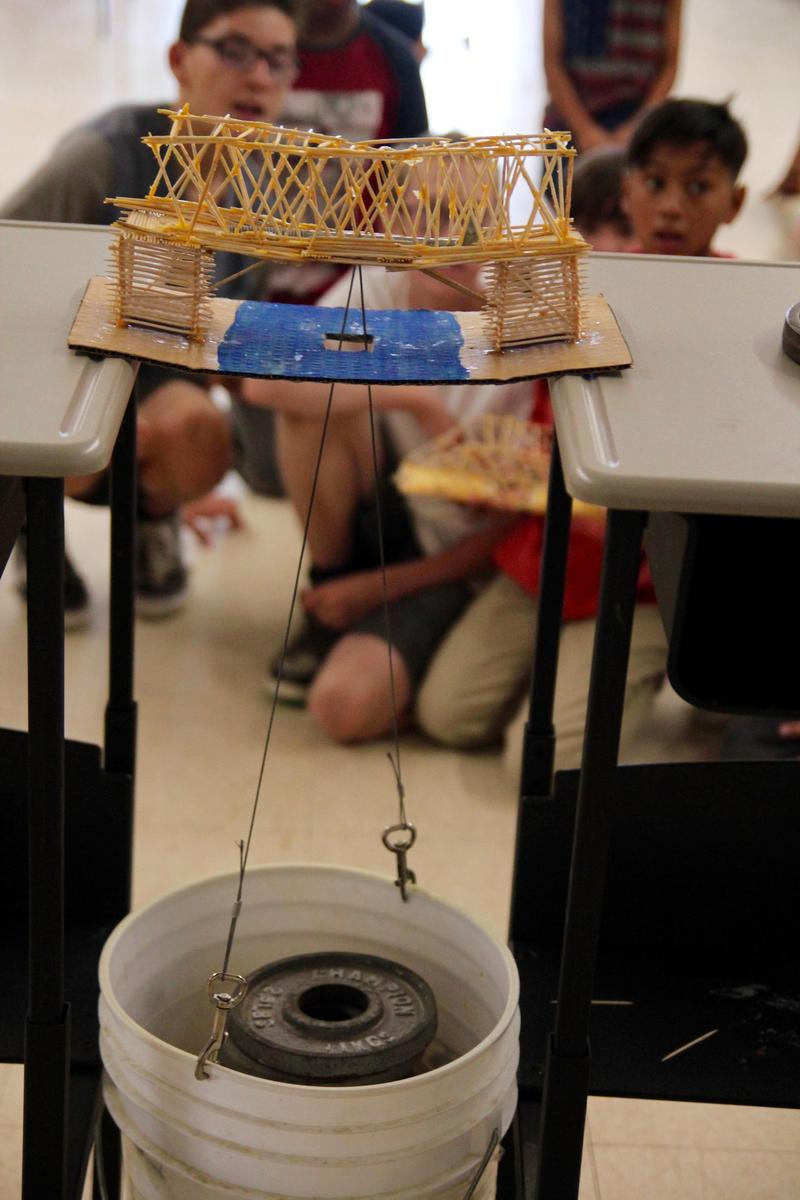 Toothpick Bridge Holding 77-1/2 Pounds Wins LVES Competition Featured Photo