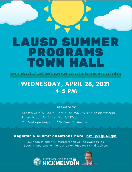 LAUSD Summer Programs Town Hall Featured Photo