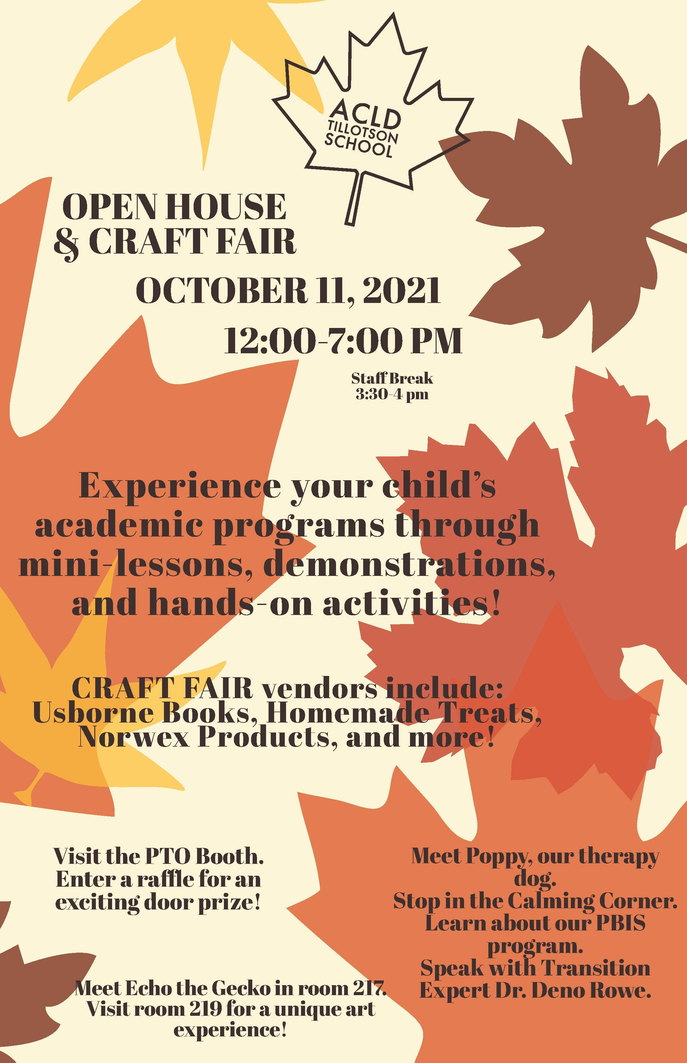 open house and craft fair