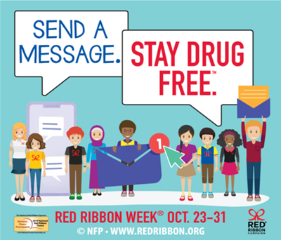 2019 Red Ribbon Week Logo. This year's theme is