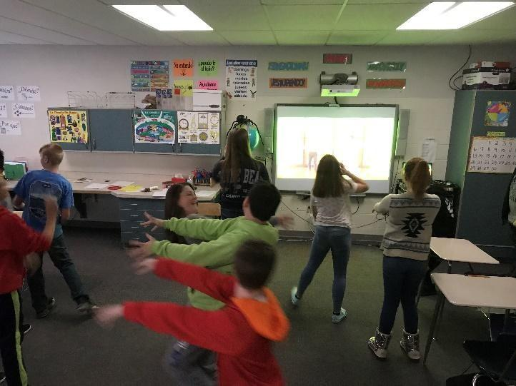 Dancing in Spanish class with Ms. Shainfeld!