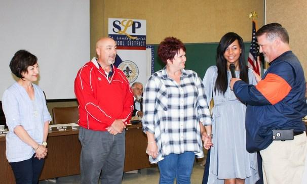 BCHS teachers and bus driver was honored for their life-saving actions for India.