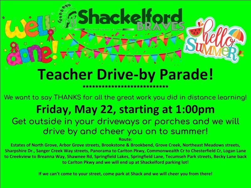 graphic describing teacher drive by parade