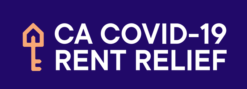 Graphic that reads: CA COVID-19 Rent Relief