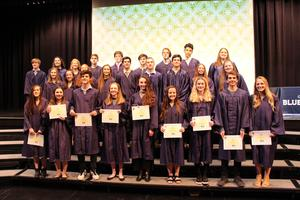 Nine High School Students Inducted in the Math National Honor Society at Ruben A. Cirillo High School