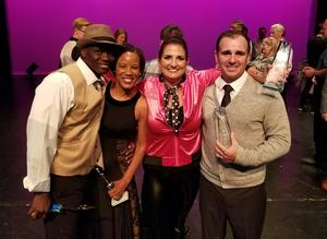 VEHS Principal Clark Motley and wife Kim Motley, VISD Counseling Coordinator, along with Mitchell Guidance Center principal Tedrick Valentine and his wife Angela competed in Dancing with the Stars-Victoria Style. The event benefited Billy T Cattan Recovery Outreach. The Motleys won the judges choice award with their East Coast Swing dance.