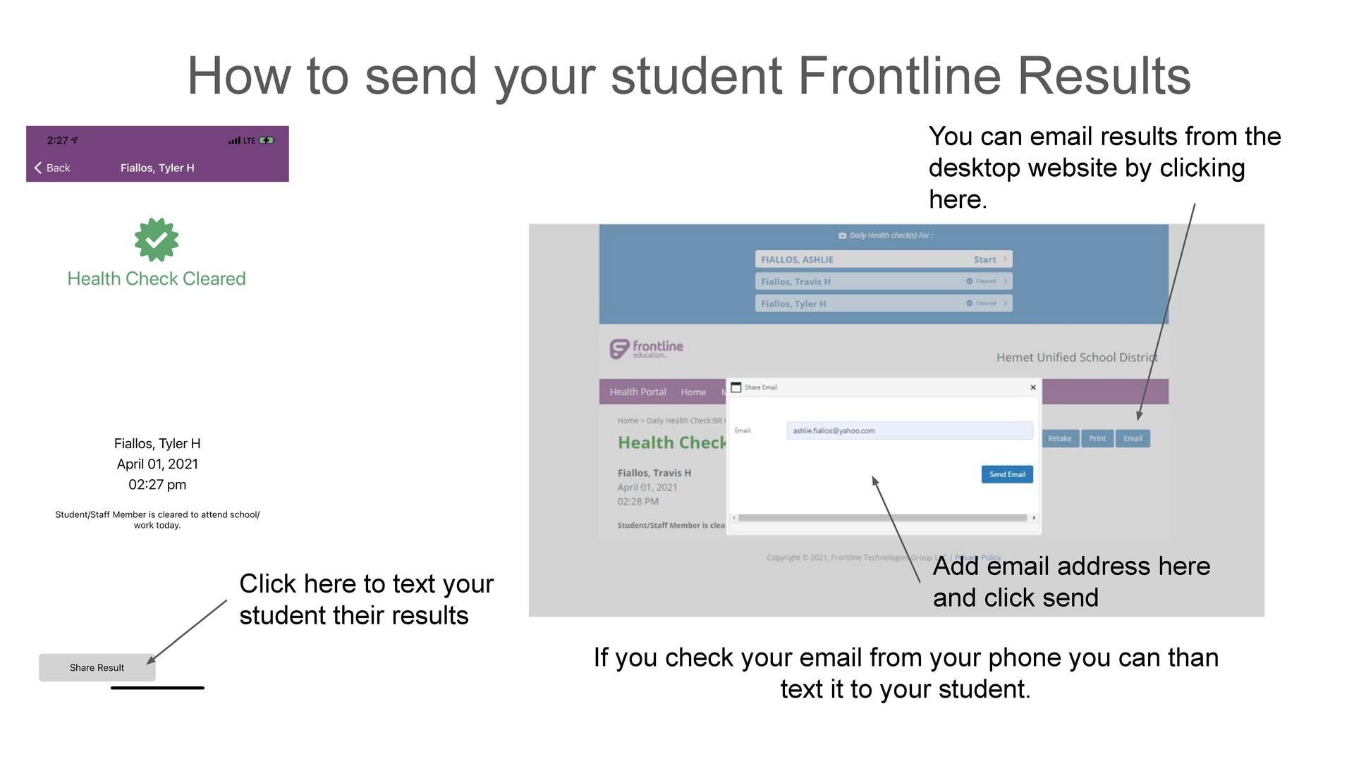How to share your Frontline results