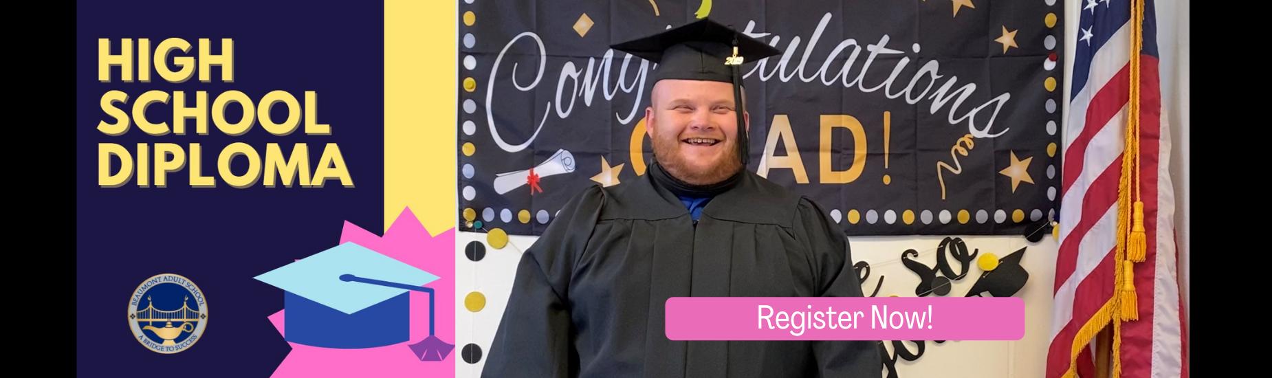 Man in Graduation Cap