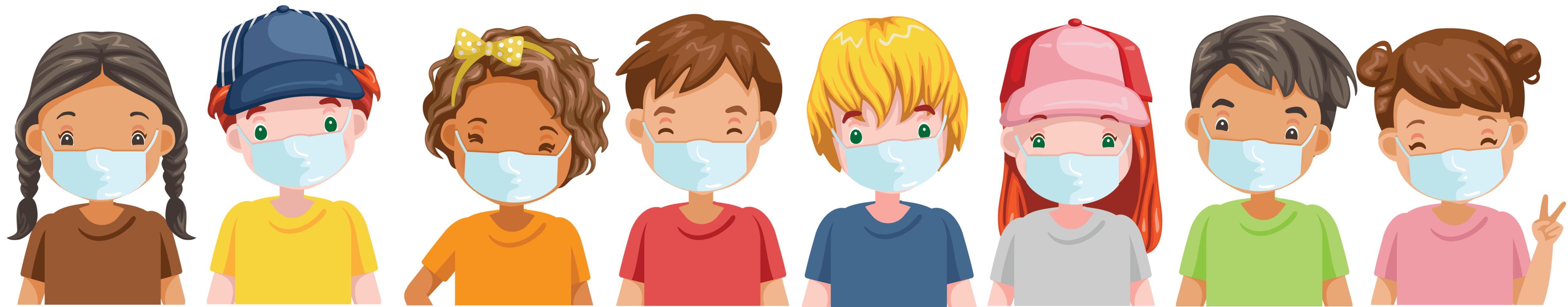 preschool children with masks