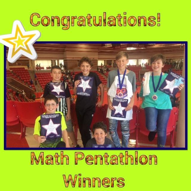 Felty Math Pentathlon Winners