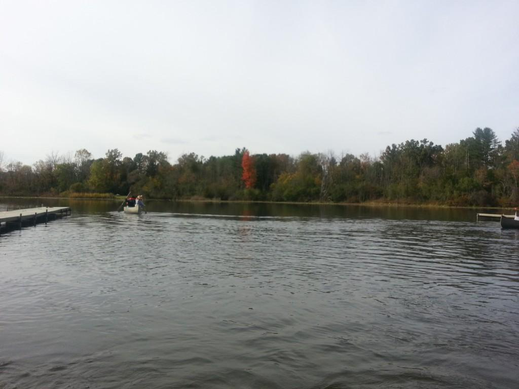 Students Canoeing at Camp