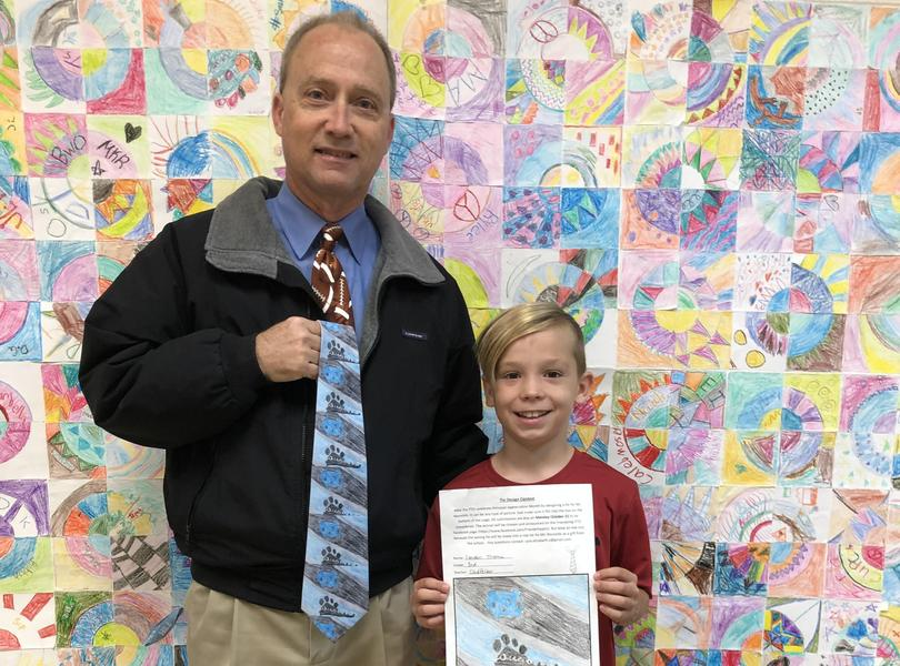 Congratulations to Landon for drawing the winning design for Mr. Reynolds new tie!