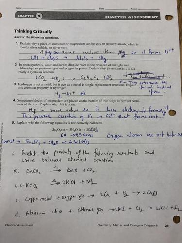 Key to Review Sheet