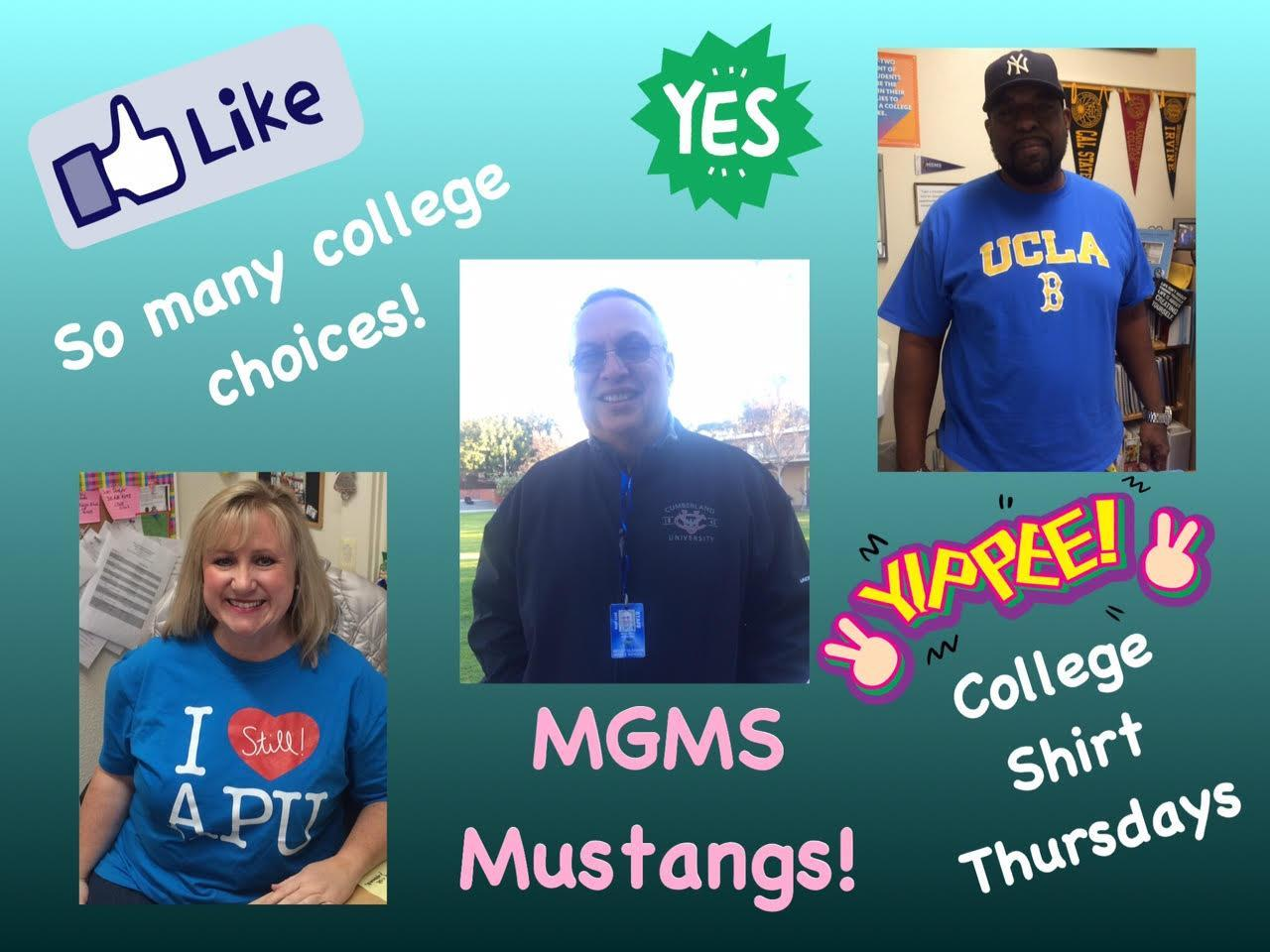 College Shirt Day!