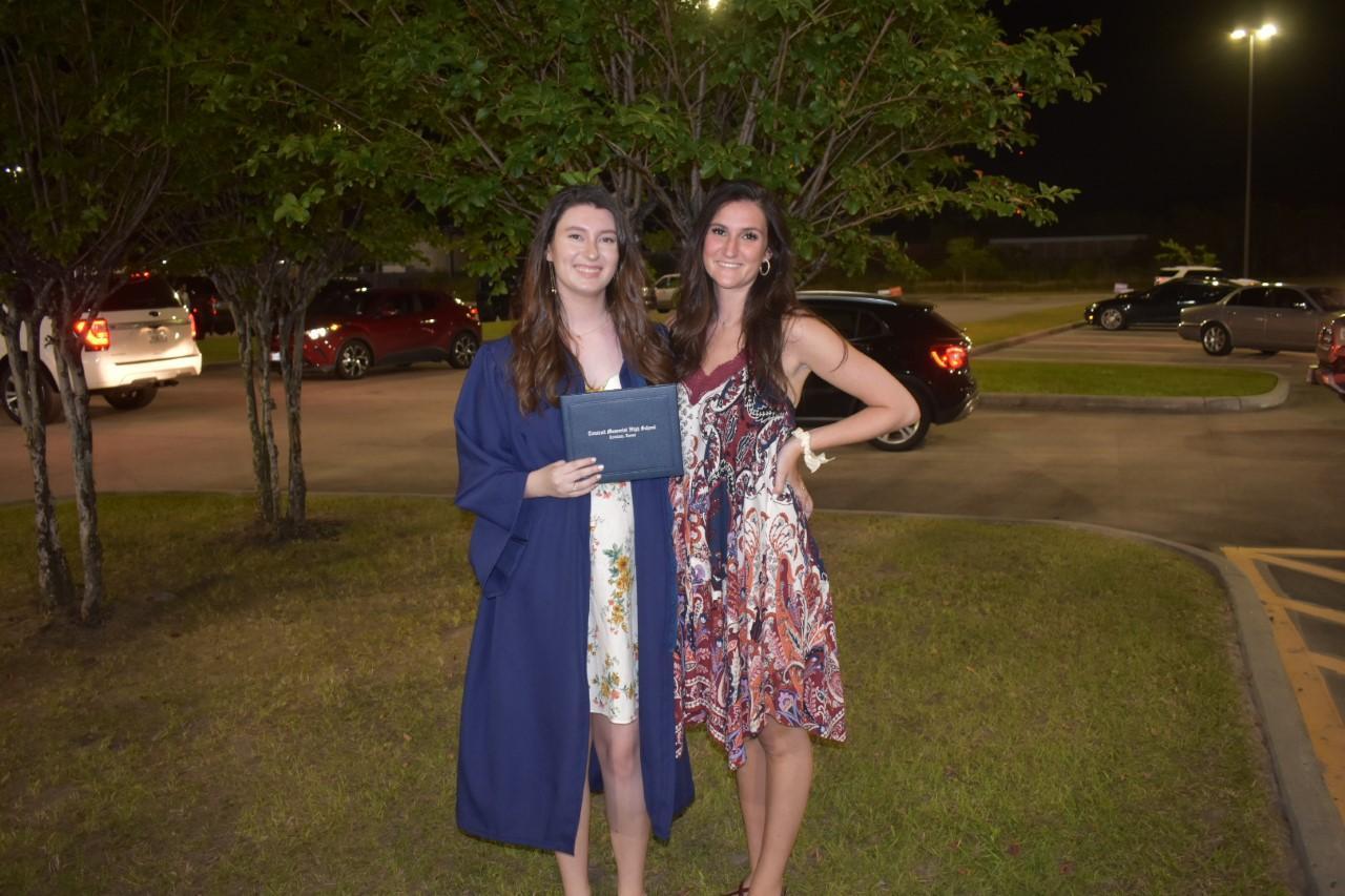 Rachel and Kate TMHS graduation 2020