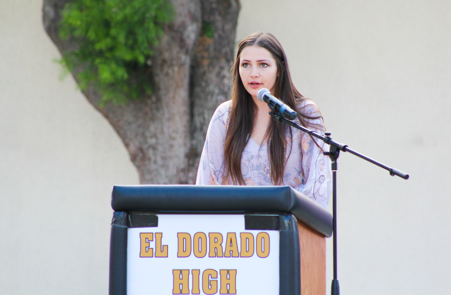 El Dorado student speaking.