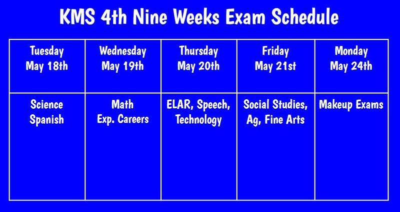 Nine Weeks Exam Schedule Featured Photo