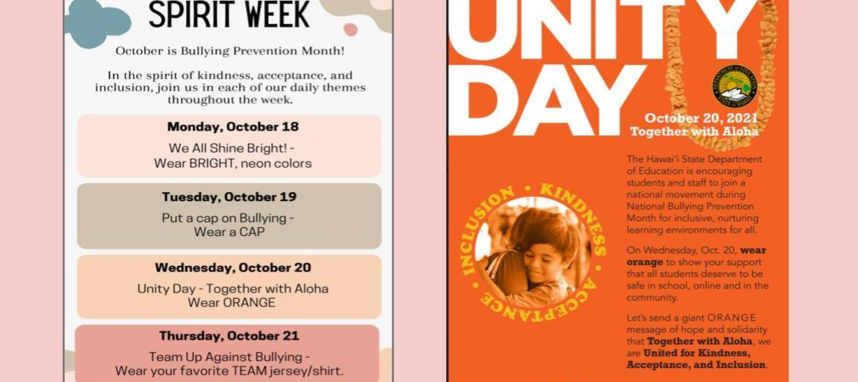 Spirit Week and Unity Day
