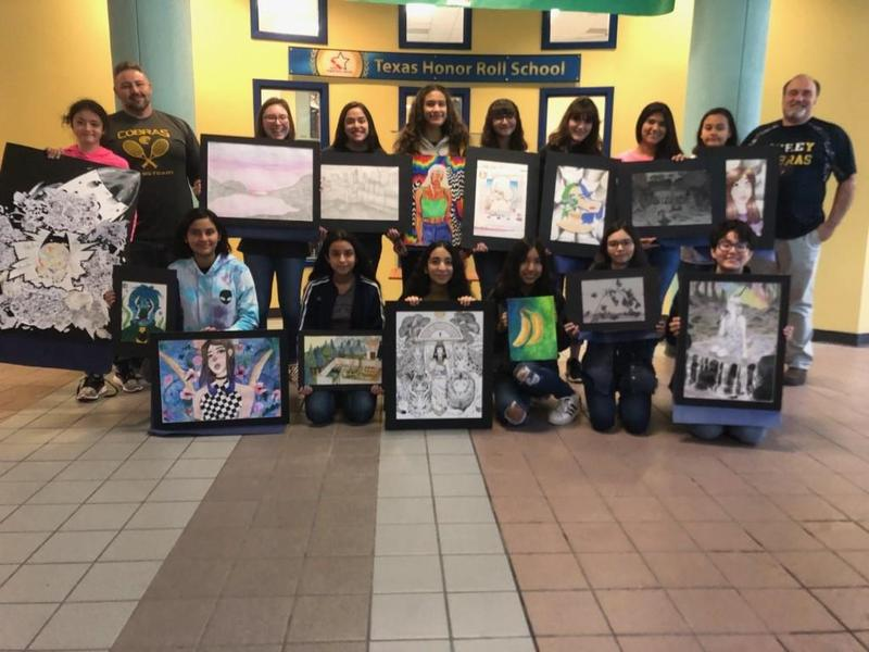 Cathey Jr. VASE Competitors with awards