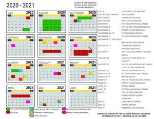 2020 - 2021 Amended Academic Calendar