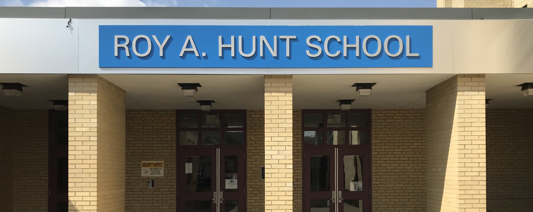 Roy A Hunt Elementary School Facade