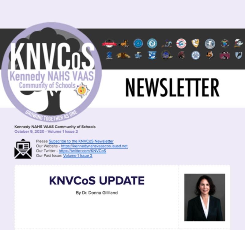 Kennedy NAHS VAAS Community of Schools Newsletter Featured Photo