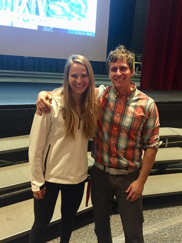 Mr. Battle with Olympic Skier, Morgan Schild
