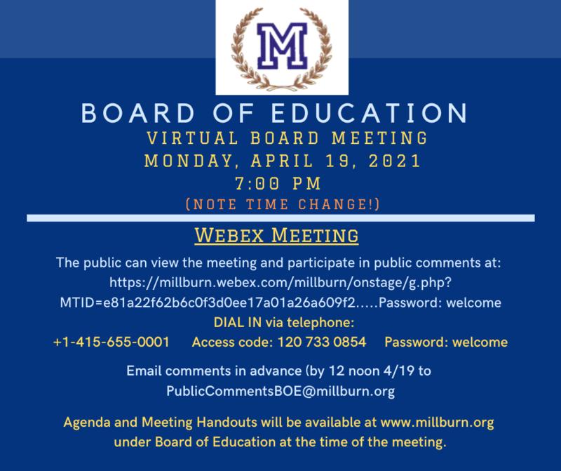 BOE Meeting poster