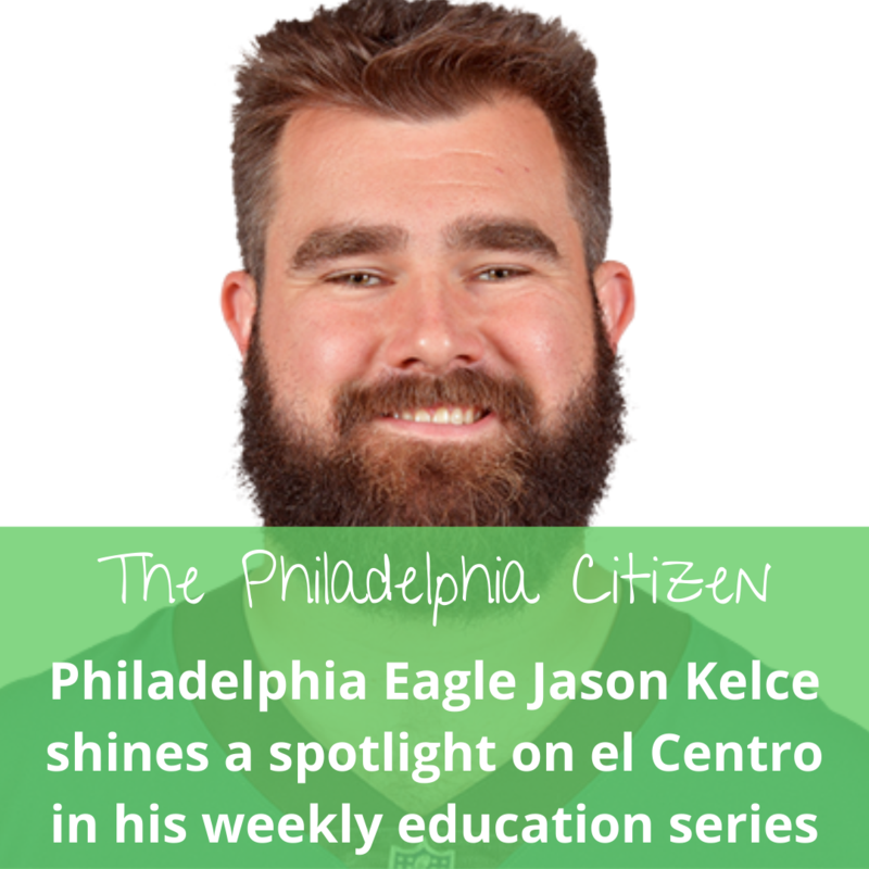 Jason Kelce shouts out el Centro de Estudiantes