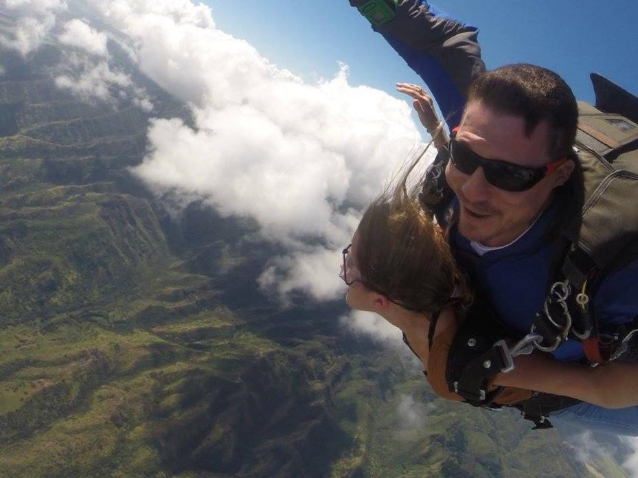 Skydiving over Oahu
