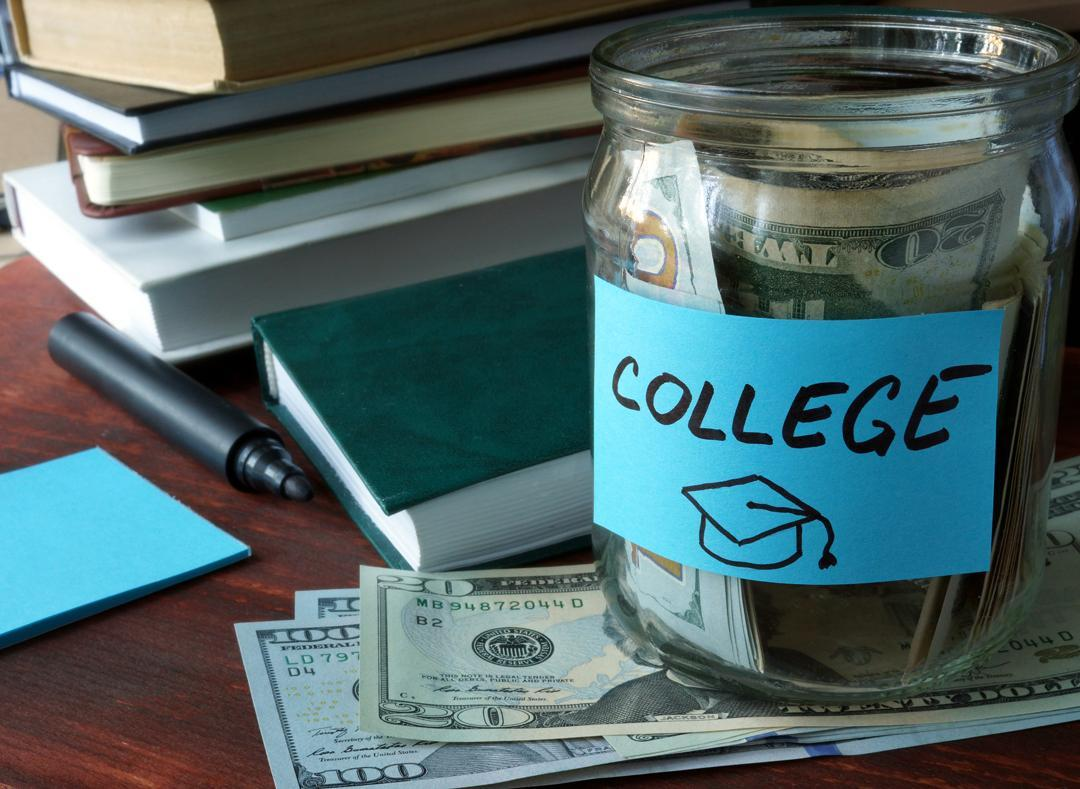 money jar for college savings