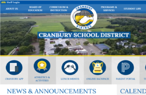 Snapshot image of Cranbury Website