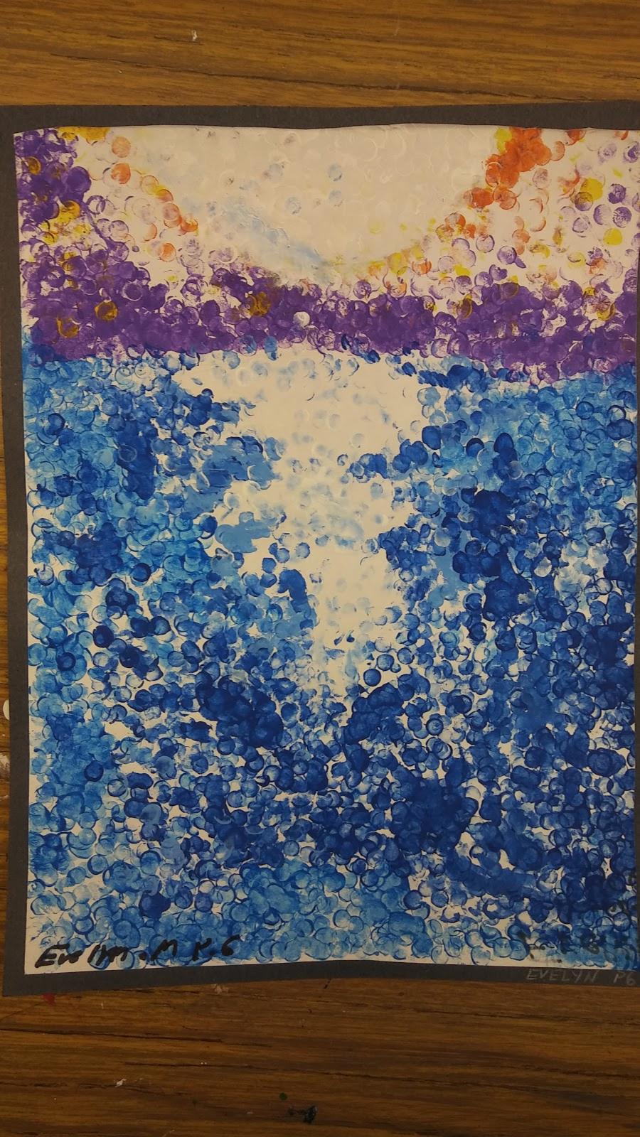Landmark Student Painting of ocean