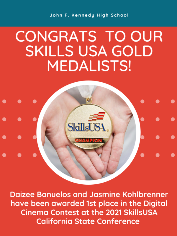 Congratulations to Skills USA Gold Medalists Daizee Banuelos and Jasmine Kohlbrenner! Featured Photo