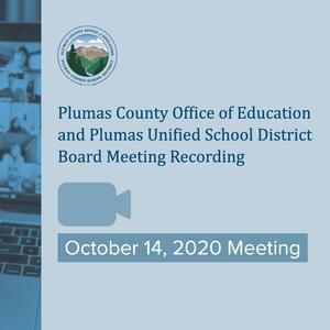 10/14/20 Regular Board Meeting Recording