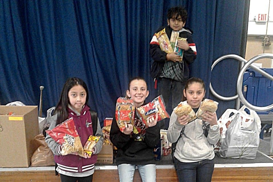 Schweitzer students donated 243 packages of pasta to Caterina's Club during Kindness Week