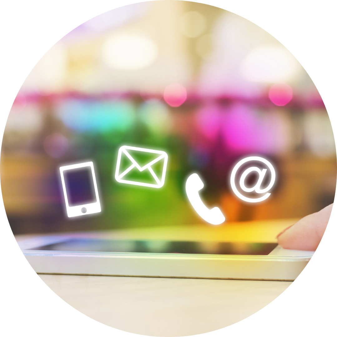 phone and email icons