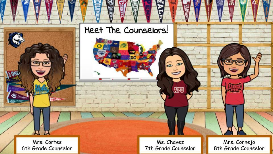 Counseling team, 6th cortes, 7th Chavez and 8th Cornejo