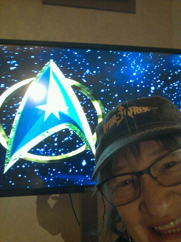 selfie at the Star Trek 50th anniversary, Las Vegas 2016