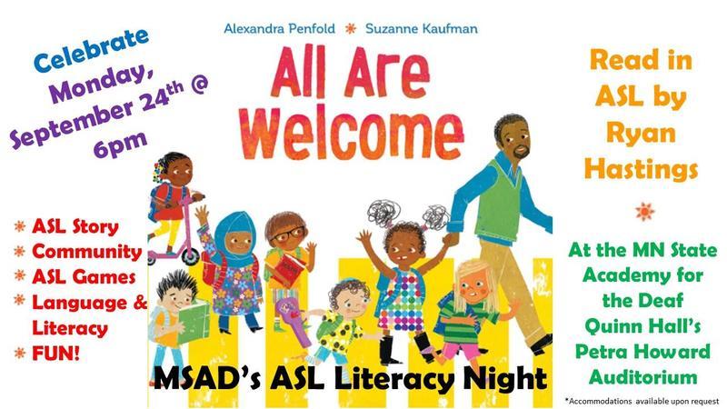 ASL Literacy Night! Thumbnail Image