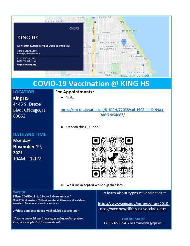 Covid-19 Vaccination @ King HS (November 2021)