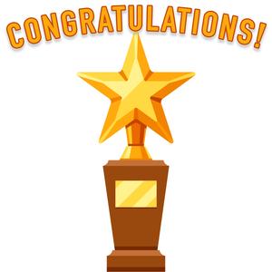congratulations trophy